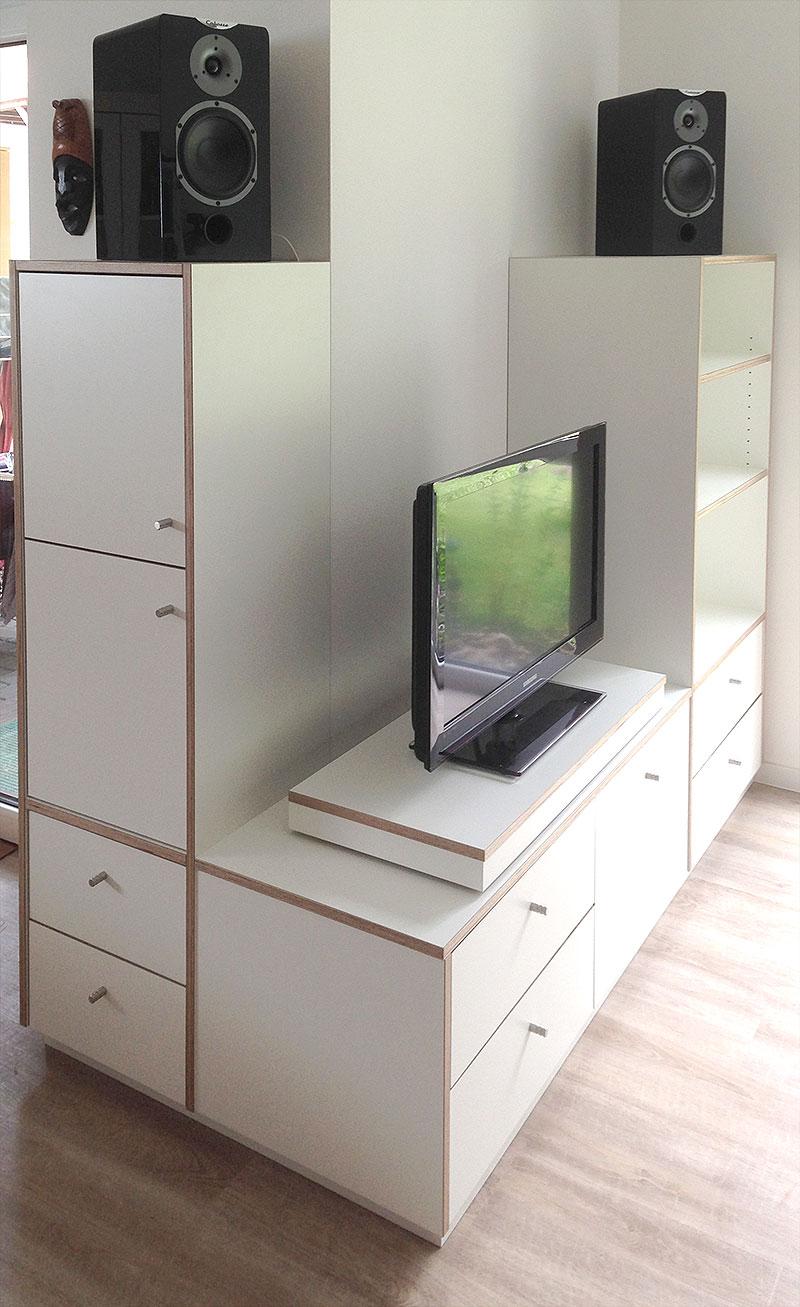 Medienschrank TV Phono Schrank Multiplex Schichtstoff